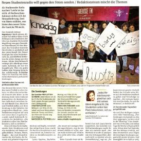 Die Volksstimme Magdeburg berichtet über GUERICKE FM